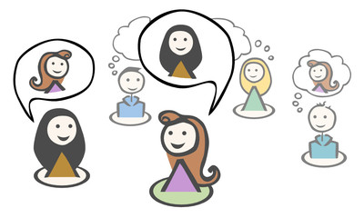 5 people_isolated_two woman talking_speech bubble_by jziprian