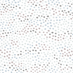 Memphis Polka dot seamless pattern. Vector hand-drawn abstract In pastel blue-gray tones on a white background. Fashion 80-90s. Vector ideal for textiles, fabrics, digital paper