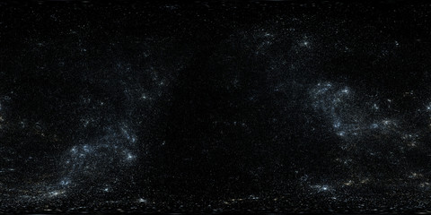 360 degree high detailed space background with stars. Panorama, environment 360° HDRI map. Equirectangular projection, spherical panorama