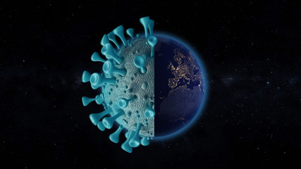 Fototapete - World coronavirus Europe