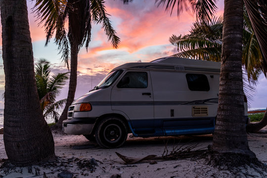 sunrise Mexico van life