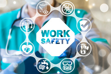Safety Work Coronavirus Medical Concept. Attention Stop COVID-19 Medicine Worker Protection.