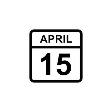calendar - April 15 icon illustration isolated vector sign symbol