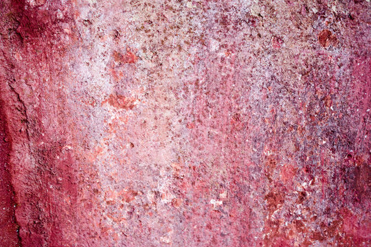 Closeup view of old textured wall surface background.