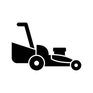 Lawnmower icon bvector solid style