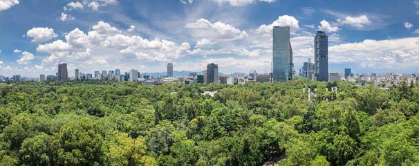 Mexico City skyline from Chapultepec Castle Papier Peint