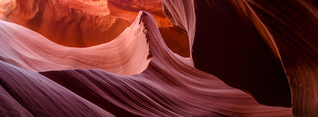 Foto op Aluminium Rood traf. Beautiful Antelope canyon, Navajo land east of Page, USA
