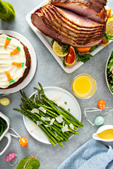 Roasted asparagus with parmesan for Easter brunch