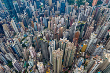 Fototapete - Hong Kong city from top