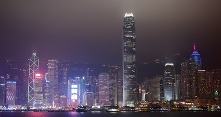 Wall Mural - Hong Kong city skyline night