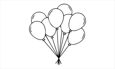 Balloon arch, balloons, birthday balloons, helium balloons, party balloons,carnival, helium balloon free vector image icon