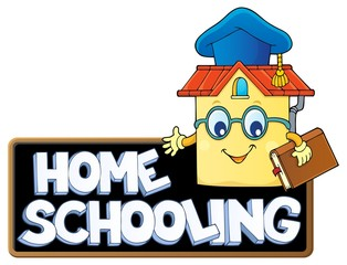 Printed roller blinds For Kids Home schooling theme sign 7