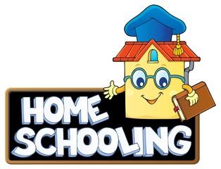 Photo sur Aluminium Enfants Home schooling theme sign 7
