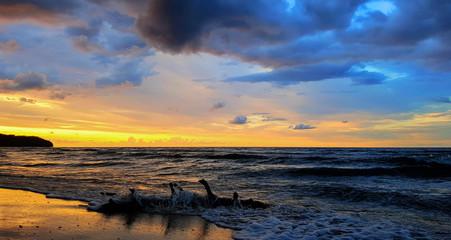 Morze Bałtyckie Zachód Słońca
