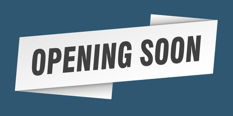 opening soon banner template. opening soon ribbon label sign