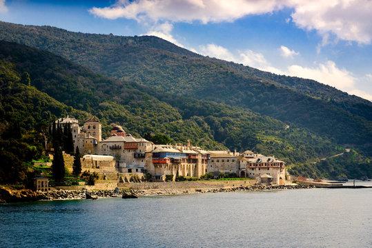 Monastery in Mount Athos Greece