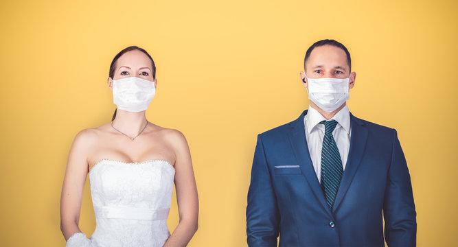 Safe distance between people during quarantine coronavirus.