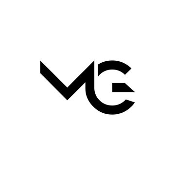 Initial MG letter Logo vector Template. Abstract Letter MG logo Design. Minimalist Linked Letter Trendy Business Logo Design Vector Template.
