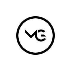 Fototapeta Initial MG letter Logo vector Template. Abstract Letter MG logo Design. Minimalist Linked Letter Trendy Business Logo Design Vector Template. obraz