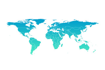 Vector world map infographic symbol. International illustration sign. Blue gradient global element for business, presentation, sample, web design, media, news, blog, report
