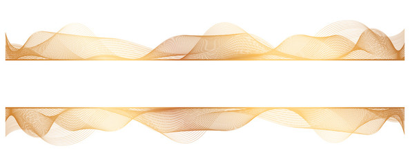 abstract gold wave lines on white background