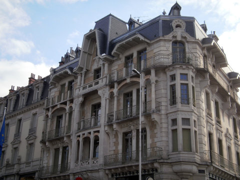Aix-les-Bains, France - December 11th 2012 : Old building in the city of Aix-les-Bains, in a kind of Victorian style.