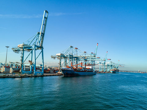 The port of Algesiras in south of spain