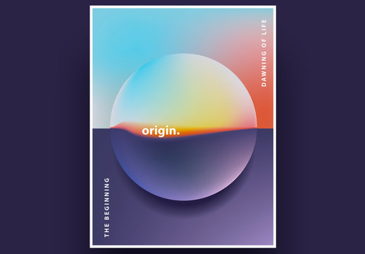 Contemporary Minimalistic Poster Layout with Gradient Circle