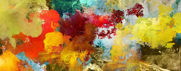 texturen ocker rot braun lila grau gold Wall mural