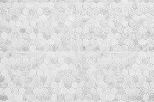 Honeycomb patterned wood panels in hexagonal shape, wood, blackground, abstract white clean pattern