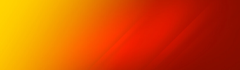 Red and yellow color background for wide banner