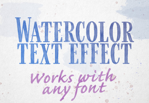 Watercolor Text Effect Mockup