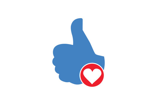 Like Icon, Gestures Icon With Heart Sign.
