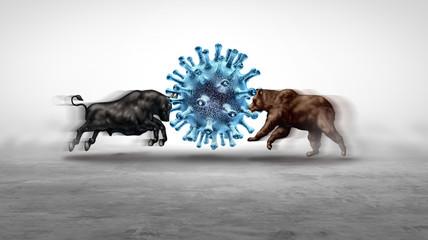 Zelfklevend Fotobehang Wanddecoratie met eigen foto Economic Pandemic Outbreak