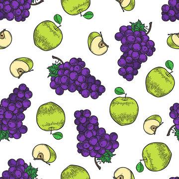 apple and grape pattern