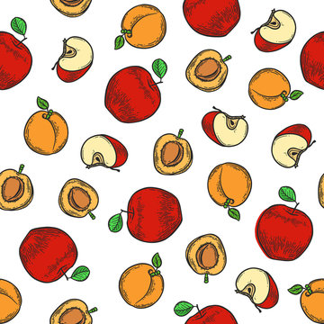 apple and apricot pattern