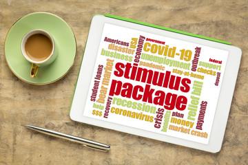 Tuinposter Europa stimulus package during coronavirus pandemic word cloud