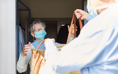 Quarantine grocery shopping for seniors