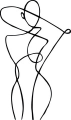 Female figure, drawn in one line