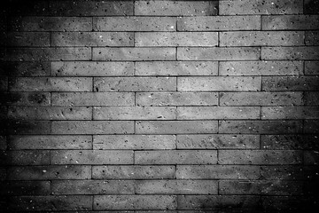 Greyscale shot of a brick wall - great for a monochrome background