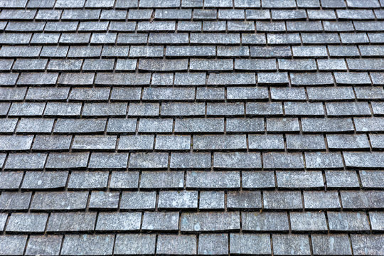 Grey slate roof tiles texture background image
