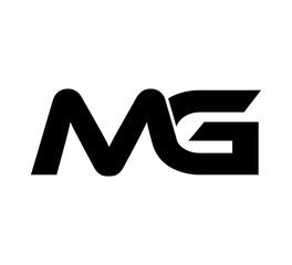 Fototapeta Initial 2 letter Logo Modern Simple Black MG obraz