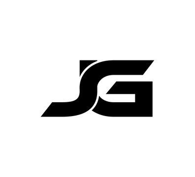 Initial 2 letter Logo Modern Simple Black JG