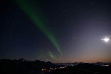 Foto auf Leinwand Violett zorza polarna koło podbiegunowe