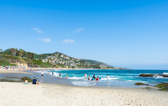 View of Treasure Island Beach at the Montage in Laguna Beach, California, United States