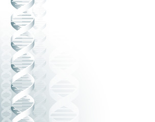 A DNA double helix molecule medical concept background illustration