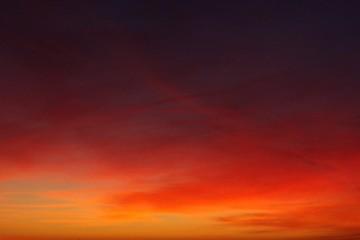 Le rouge et le soir Fototapete