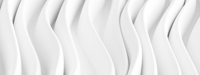 Fotobehang - Creative Graphic Design. White Waves Background
