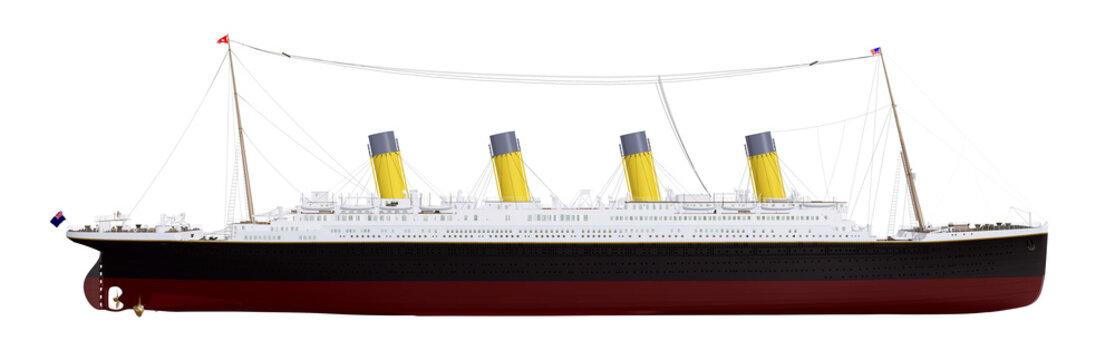 Historisches Passagierschiff Titanic, Freisteller