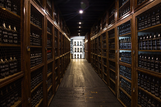 Blandy's wine storage of vintage Madeira wine